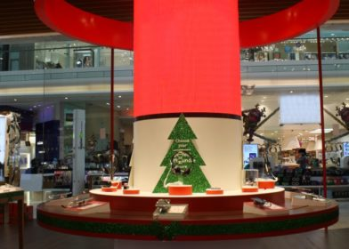 LED Curve Display installed at Westfield Shopping Centre