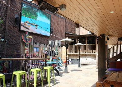 LED display installed at The Purple Turtle